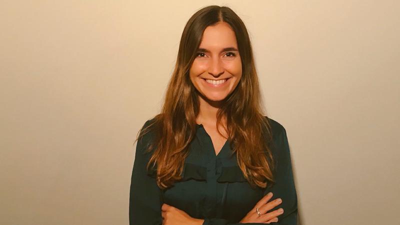 Camila García, graduada de la Licenciatura en Comunicación orientación Corporativa