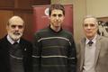Vicerector, Julio Fernández, Nicolás Borges, el decano de la Facultad de Ingeniería, Mario Fernández y Nora Szasz, coordinadora de la carrera de Ingeniería en Sistemas