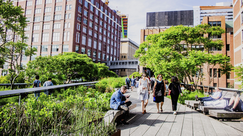 *High Line de Nueva York (Estados Unidos).*