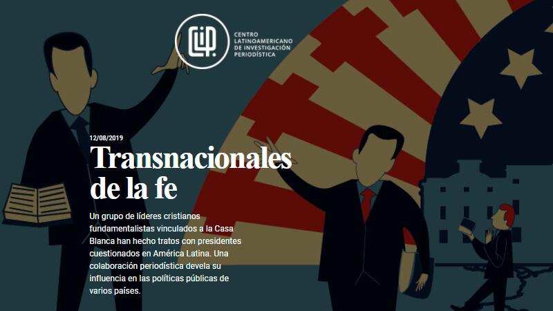 Transnacionales de la fe, investigación periodística premiada.