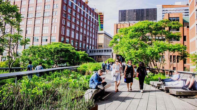 *High Line de Nueva York (Estados Unidos).*