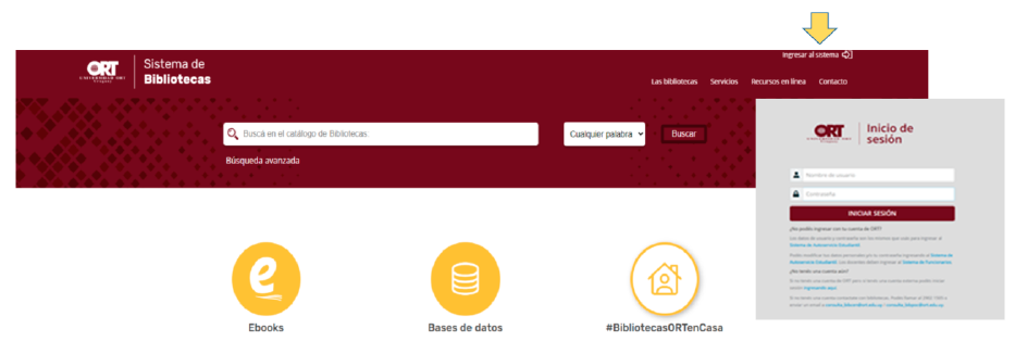 Acceder al catálogo en línea