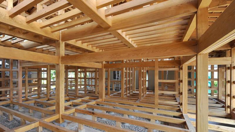 Construcción de viviendas en madera.