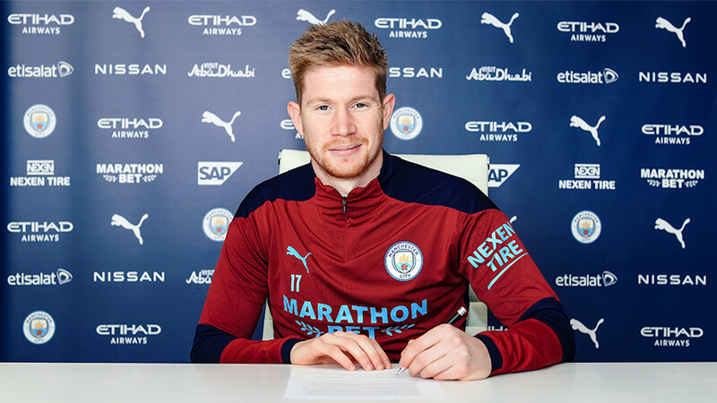 *Kevin De Bruyne acordó la extensión de su contrato con Manchester City a partir del análisis de datos. Foto: Manchester City.*