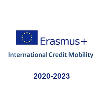 Logo Erasmus International Credit Mobility 2020-2023
