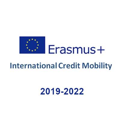 Logo Erasmus International Credit Mobility 2019-2022
