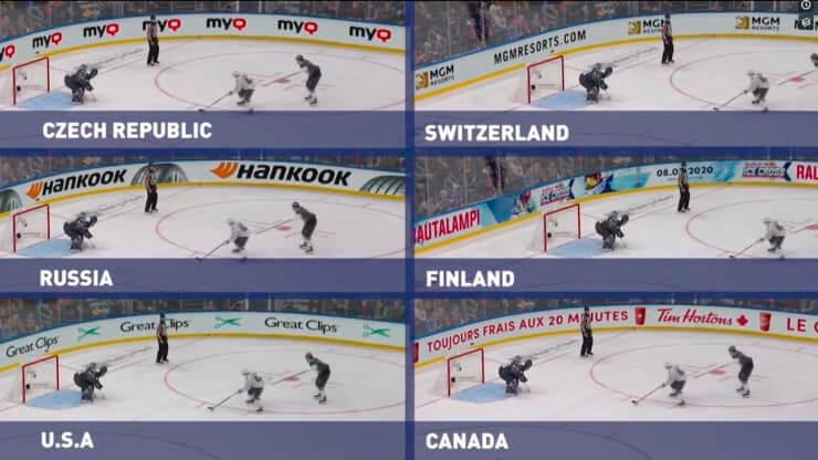 *Virtual ads. Imagen: NHL.*