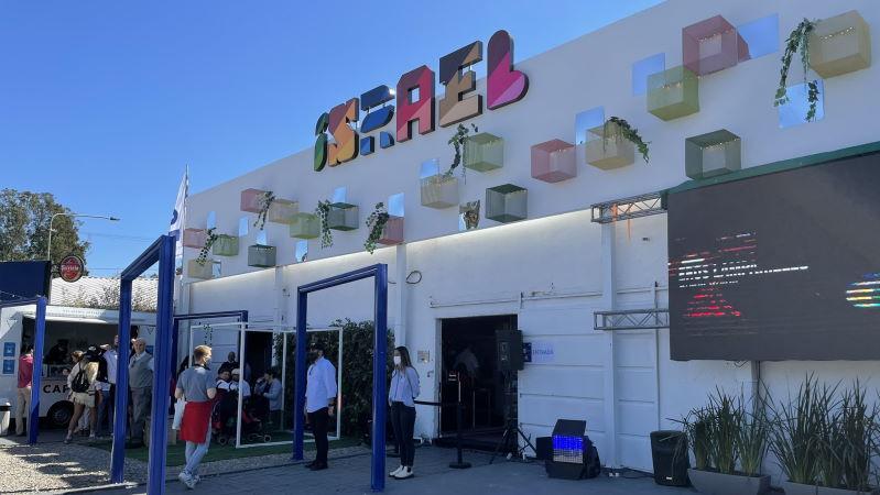 Fachada del stand de Israel en la Expo Prado 2021
