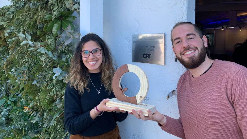 Celina Barros y Franco Ceraolo, estudiantes de la Universidad ORT Uruguay