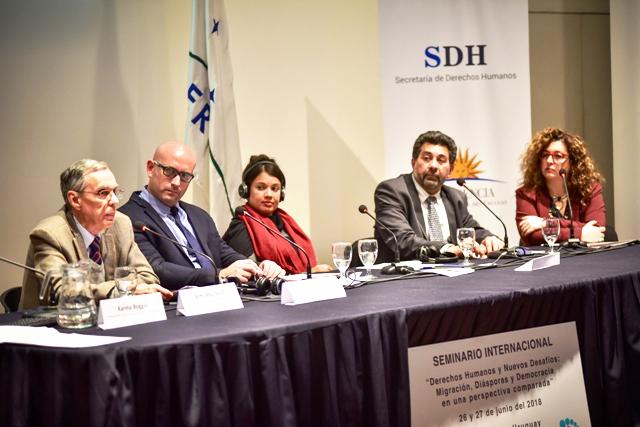 Vicerrector y docentes de ORT participaron en seminario sobre migración y derechos humanos