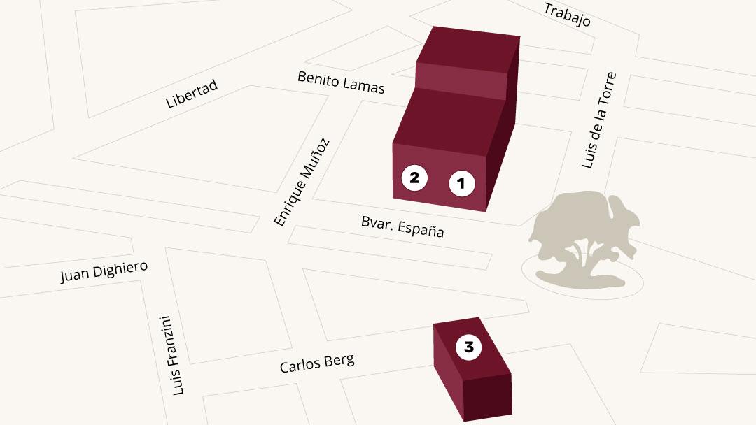 Mapa - Campus Pocitos - Universidad ORT Uruguay